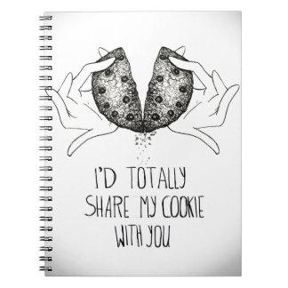 Ι' d totally share my cookie spiral notebooks