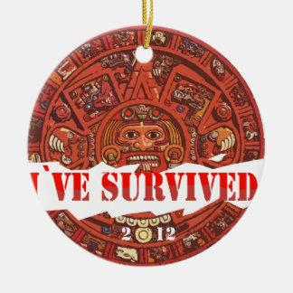 Аpocalypse 2012 End of the World Round Ceramic Decoration