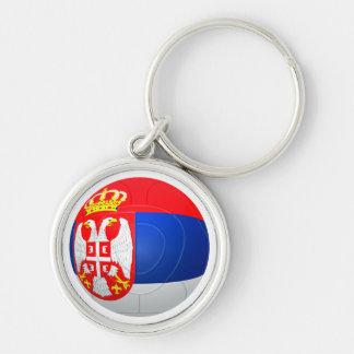 Бели Орлови - Serbia Србије Football Silver-Colored Round Key Ring