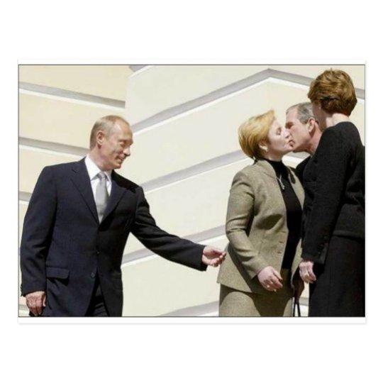 Владимир Путин Поцелуй Смерти Postcard