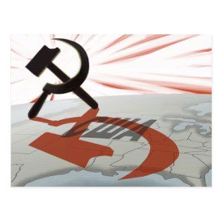 """США"" Communist America Postcard"