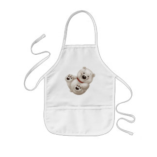 Сharming baby polar bear kids' apron