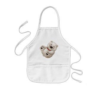 Сharming baby polar bear kids apron