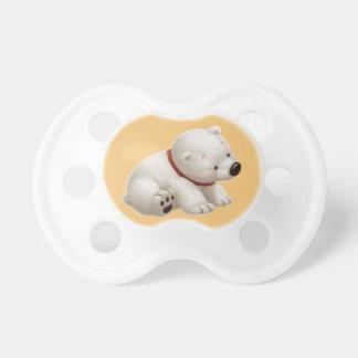 Сharming baby polar bear  (orange pacifier) dummy