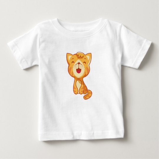 Сute red cat, kitty baby T-Shirt
