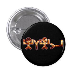 יהוה black rainbow fire 3 cm round badge