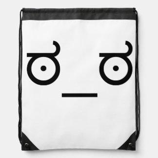 ಠ_ಠ Look of Disapproval ASCCI Emoticon Text Art Fa Backpack