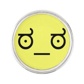ಠ_ಠ Look of Disapproval ASCCI Emoticon Text Art Lapel Pin