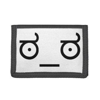 ಠ_ಠ Look of Disapproval ASCCI Emoticon Text Art Tri-fold Wallet