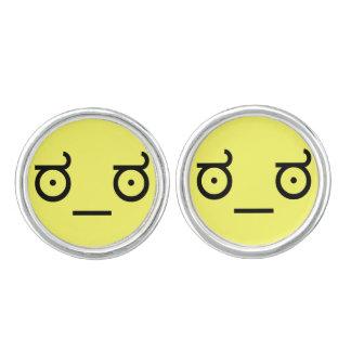 ಠ_ಠ Look of Disapproval ASCCI Text Art Face Cufflinks