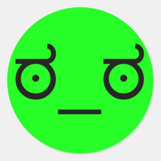 ಠ_ಠ Look of Disapproval ASCCI Text Art Funny Face Round Sticker