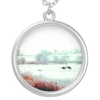 ♠»¦๑A Lovely Pair of Cranes Sterling Silver N๑¦«♠ Custom Jewelry