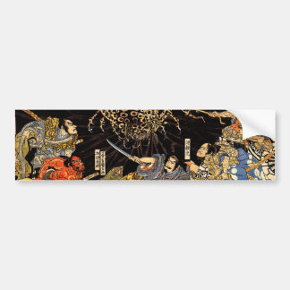 お化け蜘蛛, 国芳, Monster Spider, Kuniyoshi, Ukiyo-e Bumper Sticker