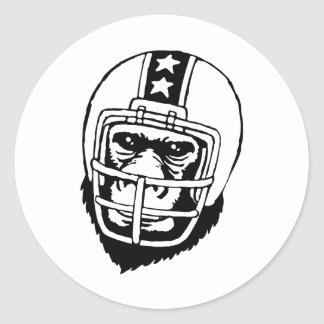 アメリカンフットボール CLASSIC ROUND STICKER