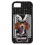 イースター-バニー愛します-ビーグル犬 iPhone 5 COVER
