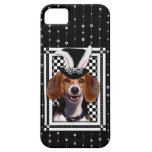 イースター-バニー愛します-ビーグル犬 iPhone 5 COVERS