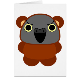オウム パロット Senegal Parrot in bear Halloween costume Card