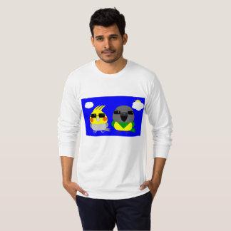 オカメインコ オウム Cockatiel & Senegal parrot with sunglas T-Shirt