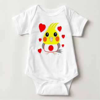 オカメインコ オウムCockatiel with love for Japan Baby Bodysuit