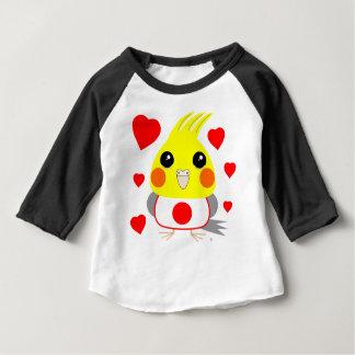 オカメインコ オウムCockatiel with love for Japan Baby T-Shirt