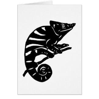 カメレオン 切り絵 chameleon アニマル ANIMAL カード