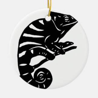カメレオン 切り絵 chameleon アニマル ANIMAL クリスマスオーナメント