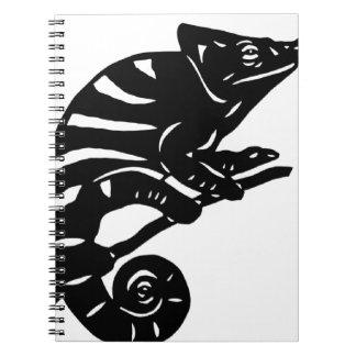 カメレオン 切り絵 chameleon アニマル ANIMAL スパイラルノート