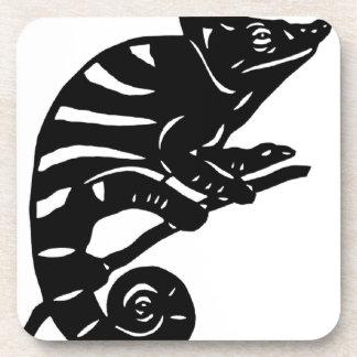 カメレオン 切り絵 chameleon アニマル ANIMAL ビバレッジコースター