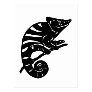 カメレオン 切り絵 chameleon アニマル ANIMAL ポストカード