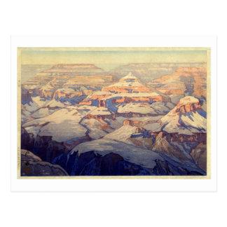 グランド・キャニオン, Grand Canyon, Yoshida, Woodcut Postcard