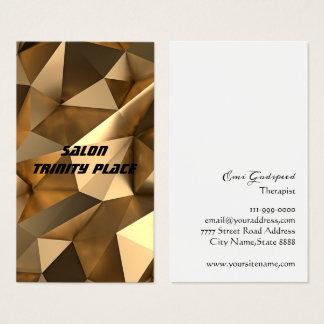 ゴールド 金色の個性的なデザイン名刺 BUSINESS CARD