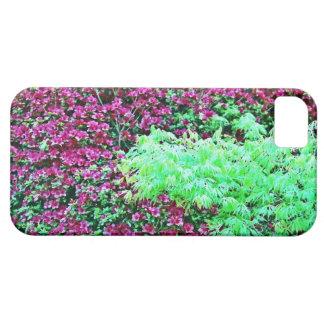 ショッキングピンクのツツジおよび日本のなかえでのMonetの庭 Barely There iPhone 5 Case