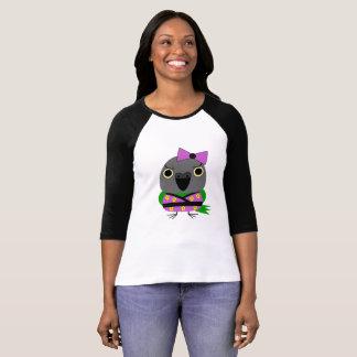 ネズミガシラハネナガインコ  オウム  Senegal Parrot in Kimono T-Shirt
