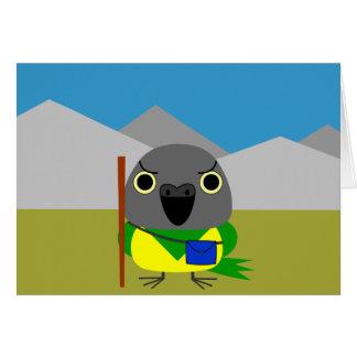 ネズミガシラハネナガインコ  オウム Senegal parrot ready to hike Card