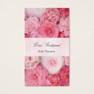 ピンクの花のかわいい名刺 BUSINESS CARD