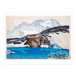 ブライトホルン, Breithorn, Hiroshi Yoshida, Woodcut Postcard