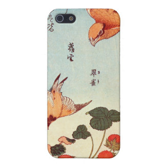 ヘビイチゴに小鳥, 北斎 Bird and Mock Strawberry, Hokusai iPhone 5 Covers
