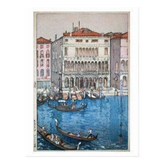 ベニス, Venice, Hiroshi Yoshida, Woodcut Postcard
