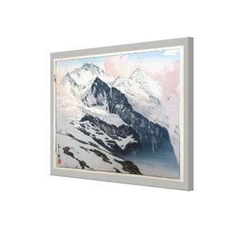 ユングフラウ, Jungfrau, Hiroshi Yoshida, Woodcut Canvas Print