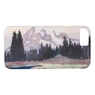 レーニア山, Mount Rainier, Hiroshi Yoshida, Woodcut iPhone 8/7 Case