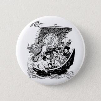 七福神 Seven Lucky Gods 6 Cm Round Badge
