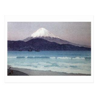三保の富士, Mt. Fuji seen from Miho peninsula, Yoshida Postcard