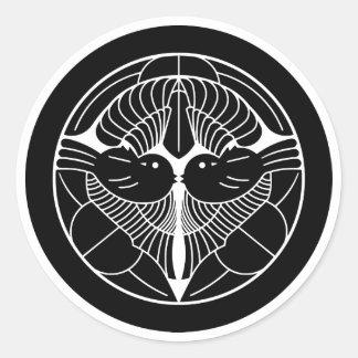 上杉謙信 家紋, Uesugi Kenshin KAMON, Japanese Family Cre Stickers