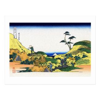下目黒, 北斎 View Mt.Fuji from Shimomeguro, Hokusai Postcards