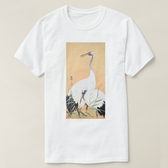 丹頂鶴, 小原古邨 Red-crowned Crane, Ohara Koson, Ukiyo-e T-Shirt