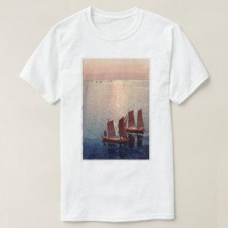 光る海, Glittering Sea, Hiroshi Yoshida, Woodcut T-Shirt