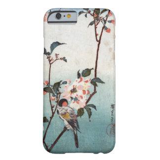 八重桜に鳥, 広重 Cherry Blossom & Bird, Hiroshige, Ukiyoe Barely There iPhone 6 Case