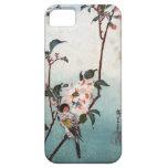 八重桜に鳥, 広重 Cherry Blossom & Bird, Hiroshige, Ukiyoe Barely There iPhone 5 Case