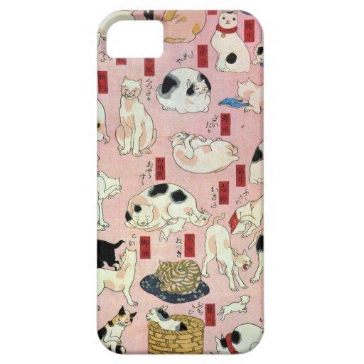 其のまま地口猫飼好五十三疋(中), 国芳 Cats(2), Kuniyoshi, Ukiyo-e iPhone 5 Cases