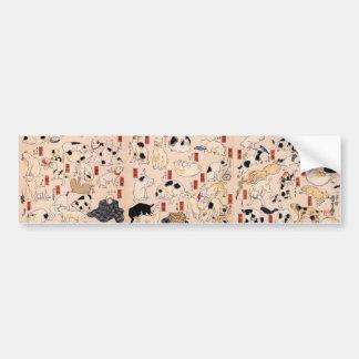 其のまま地口猫飼好五十三疋, 国芳 Cats, Kuniyoshi, Ukiyo-e Bumper Sticker